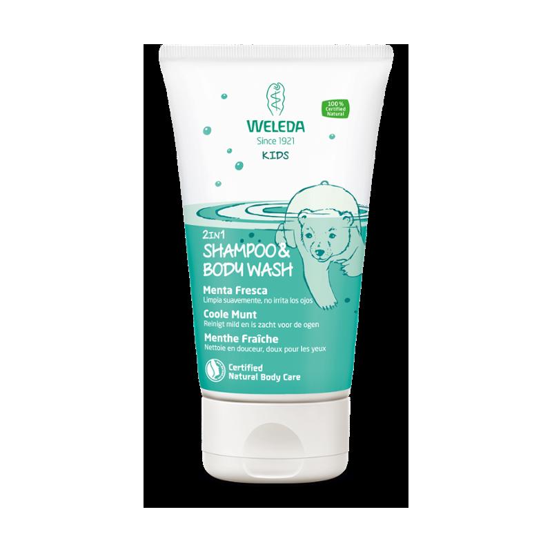 Weleda bodywash en shampoo Coole mint