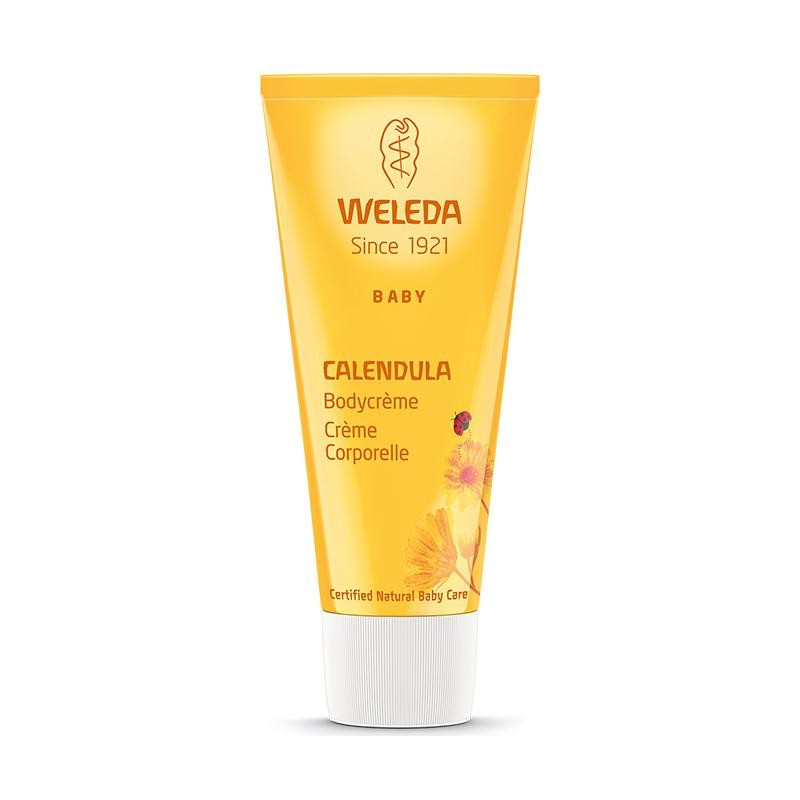 Bodycrème voor baby met Calendula van Weleda