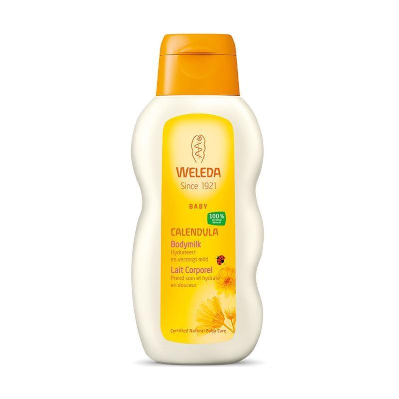 Calendula bodymilk voor baby of gevoelige huid van Weleda