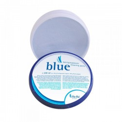 Blue pasta met doek schuurcrème