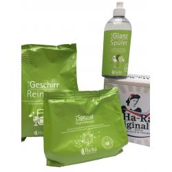Offre Ha-Ra poudre pour lave-vaiselle, protection anti-calcaire et liquide de rinçage 500ml